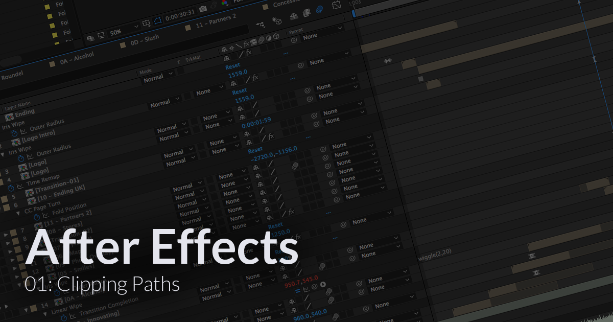 After Effects tips & tricks every animator should know: 01 - Clipping Paths